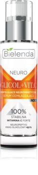Bielenda Neuro Glicol + Vit. C verjüngendes Serum für die Nacht mit Peelingeffekt