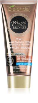 Bielenda Magic Bronze crème auto-bronzante peaux claires pour un effet naturel