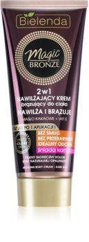 Bielenda Magic Bronze creme bronzeador para peles escuras com efeito hidratante