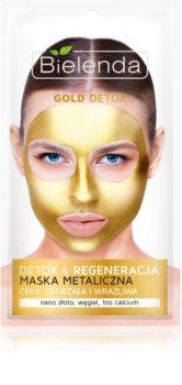 Bielenda Metallic Masks Gold Detox máscara regeneradora e desintoxicante para pele madura