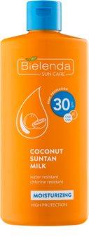 Bielenda Bikini Coconut зволожуюче молочко для засмаги SPF 30