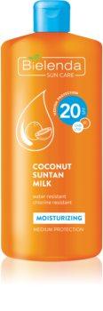 Bielenda Sun Care leite solar hidratante SPF 20
