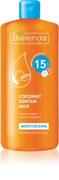 Bielenda Sun Care хидратиращо мляко за тен SPF 15