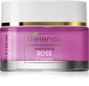 Bielenda Rose Care хидратиращ розов крем за чувствителна кожа на лицето