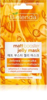 Bielenda Jelly Mask Matt Booster masque normalisant-matifiant pour peaux grasses et mixtes