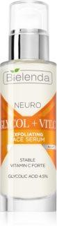 Bielenda Neuro Glicol + Vit. C ser de noapte regenerator cu efect exfoliant