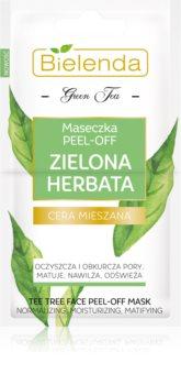 Bielenda Green Tea Peel-Off-Maske für Haut mit kleinen Makeln