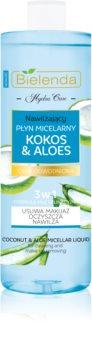 Bielenda Hydra Care Coconut & Aloe água miceral desmaquilhante para pele seca desidratada