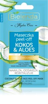 Bielenda Hydra Care Coconut & Aloe Peel-Off maska za lice s hidratantnim učinkom