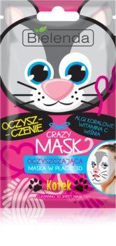 Bielenda Crazy Mask Kitty čistilna maska 3D