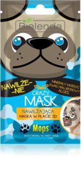 Bielenda Crazy Mask Pug maseczka nawilżająca 3D