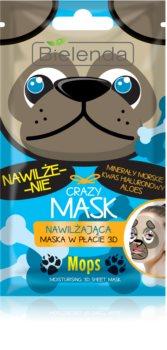 Bielenda Crazy Mask Pug vlažilna maska 3D