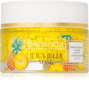 Bielenda Juicy Jelly Pineapple & Vitamine C Refreshing Face Mask for Tired Skin