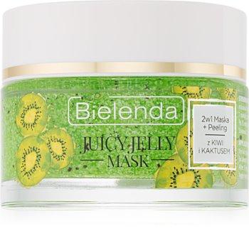 Bielenda Juicy Jelly Kiwi & Cactus Cleansing Mask and Scrub 2 in 1