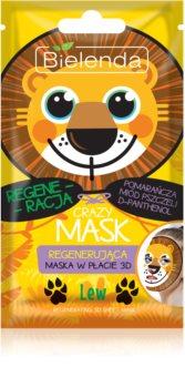 Bielenda Crazy Mask Lion regenererende sheet mask 3D