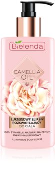 Bielenda Camellia Oil nährende und feuchtigkeitsspendende Bodylotion mit Glitzerteilchen