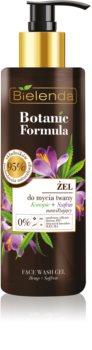 Bielenda Botanic Formula Hemp + Saffron mycí gel na obličej s hydratačním účinkem