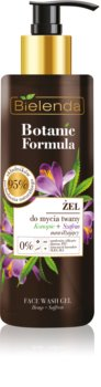 Bielenda Botanic Formula Hemp + Saffron измиващ гел за лице с хидратиращ ефект