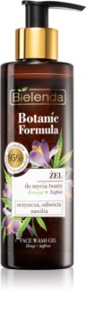 Bielenda Botanic Formula Hemp + Saffron gel lavant visage pour un effet naturel