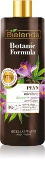 Bielenda Botanic Formula Hemp + Saffron освежаваща почистваща мицеларна вода