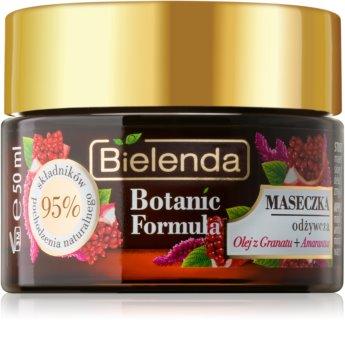 Bielenda Botanic Formula Pomegranate Oil + Amaranth feuchtigkeitsspendende und nährende Gesichtsmaske