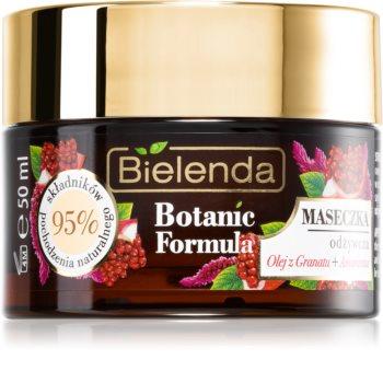 Bielenda Botanic Formula Pomegranate Oil + Amaranth hidratantna i hranjiva maska za lice