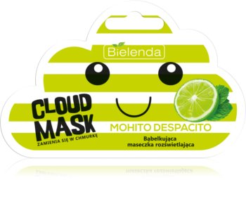 Bielenda Cloud Mask Mohito Despacito rozjaśniająca maseczka do twarzy