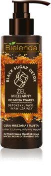 Bielenda Black Sugar Detox gel micellaire nettoyant pour un effet naturel
