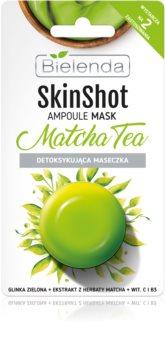 Bielenda Skin Shot Matcha Tea razstrupljevalna maska za obraz