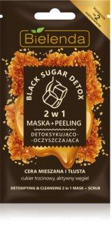 Bielenda Black Sugar Detox детоксикираща маска и микро пилинг 2 в 1