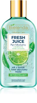 Bielenda Fresh Juice Lime Micellar Water for Combination and Sensitive Skin