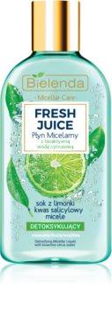 Bielenda Fresh Juice Lime мицеларна вода за смесена към чувствителна кожа