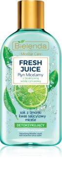 Bielenda Fresh Juice Lime міцелярна вода для змішаної та чутливої шкіри