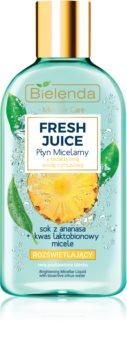 Bielenda Fresh Juice Pineapple мицеларна вода за озаряване на лицето