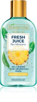 Bielenda Fresh Juice Pineapple eau micellaire pour une peau lumineuse