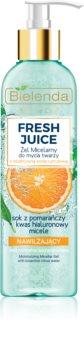 Bielenda Fresh Juice Orange Reinigende Micellair Gel  met Hydraterende Werking