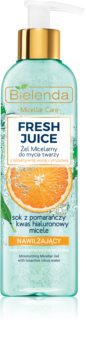 Bielenda Fresh Juice Orange micelarni čistilni gel z vlažilnim učinkom