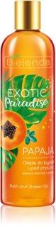 Bielenda Exotic Paradise Papaya Gel-Öl für Bad und Dusche