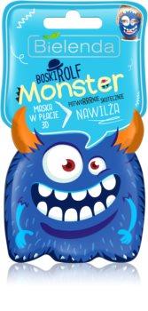 Bielenda Monster Moisturising face sheet mask 3D
