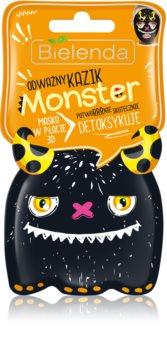 Bielenda Monster masque en tissu détoxifiant 3D