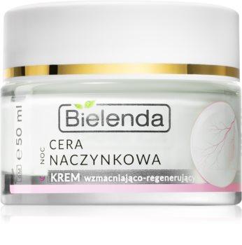 Bielenda Capillary Skin нощен крем, намаляващ зачервяванията по кожата