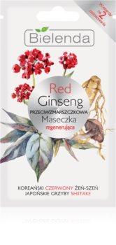 Bielenda Red Gingseng регенерираща маска за лице против бръчки