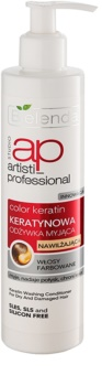 Bielenda Artisti Professional Color Keratin condicionador de queratina para cabelo seco a danificado