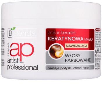 Bielenda Artisti Professional Color Keratin maseczka nawilżająca do włosów farbowanych