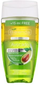 Bielenda Avocado removedor de maquilhagem suave bifásico para olhos sensíveis