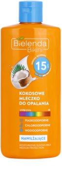 Bielenda Bikini Coconut ενυδατικό αντηλιακό γαλάκτωμα SPF 15