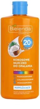 Bielenda Bikini Coconut hidratantno mlijeko za sunčanje SPF 20