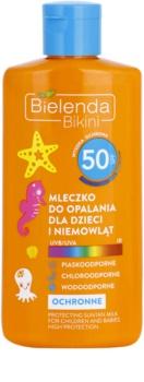 Bielenda Bikini schützende Sonnenmilch für Kinder SPF 50