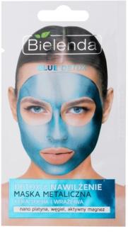 Bielenda Metallic Masks Blue Detox Cleansing Hydrating Mask for Dry and Sensitive Skin