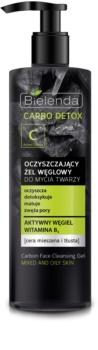 Bielenda Carbo Detox Active Carbon почистващ гел с активен въглен  за смесена и мазна кожа